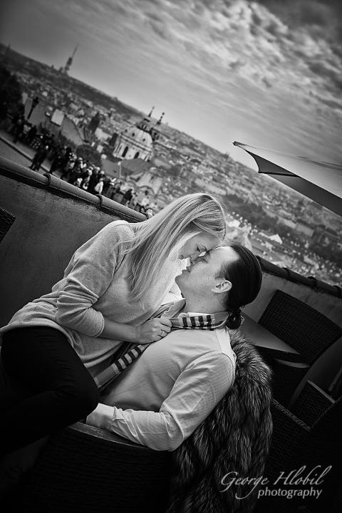 Prague engagement photo shoot - Couple photography Prague