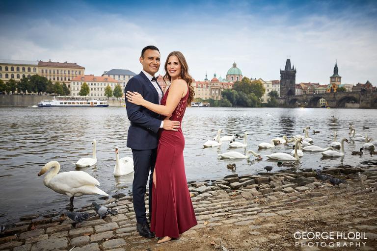 Vacation photographer Prague - Couple engagement photography Prague