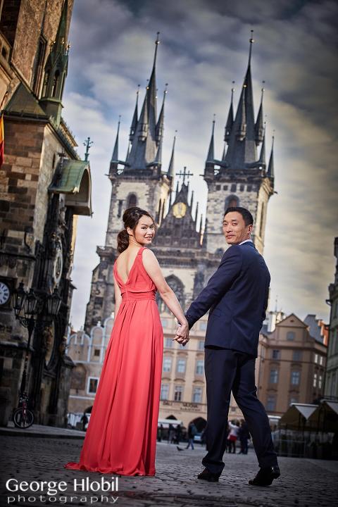Prague pre wedding photo shoot - Honeymoon photos Prague - High end wedding photographer Prague
