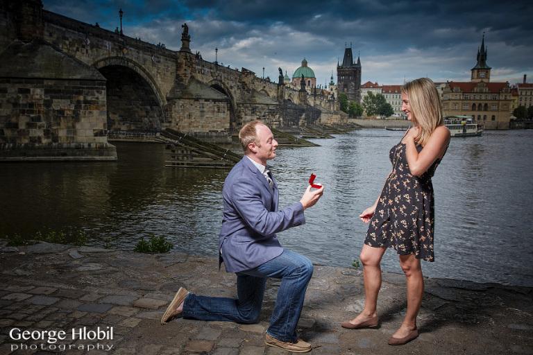 Surprise proposal photo shoot Prague - Engagement photography Prague